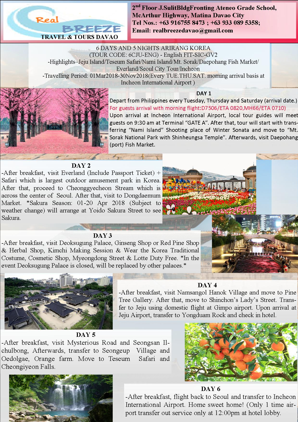 South Korea Tours International From Davao Philippines Tour Winter Package 4d3n